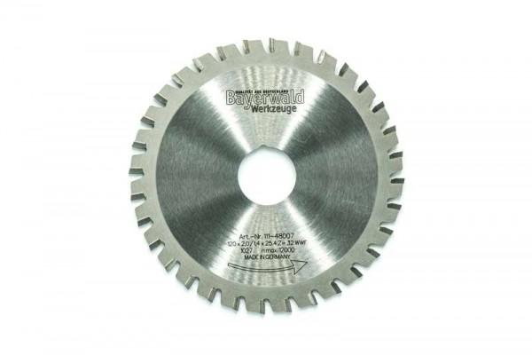 Multifunktionssägeblatt - Ø 120 mm x 2,0 mm x 25,4 mm | Z=32 WWF