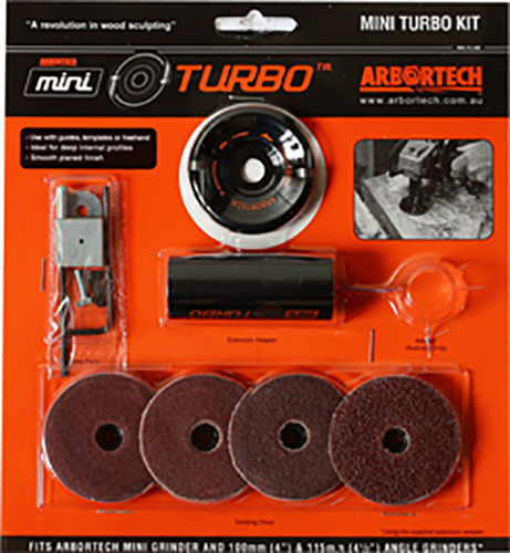 Arbortech Mini Turbo Kit für Winkelschleifer (M5 Version)